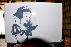 Macbook laptop modified with Snow White