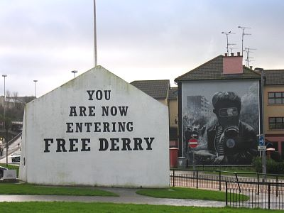Photo of Free Derry corner