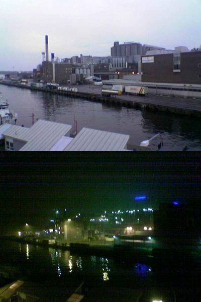 Photos of the Karlshamn brewery by day and by night