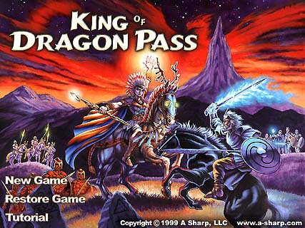 King of Dragon Pass splash screen.