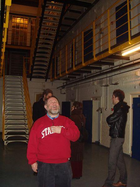 Photo of Ernest Adams inside Leeuwarden jail.