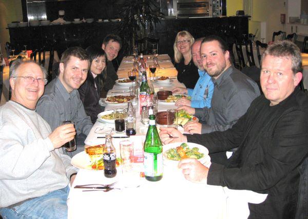 Speakers' dinner at SAND 2008.