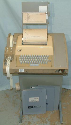 Image of an ASR-33 Teletype machine