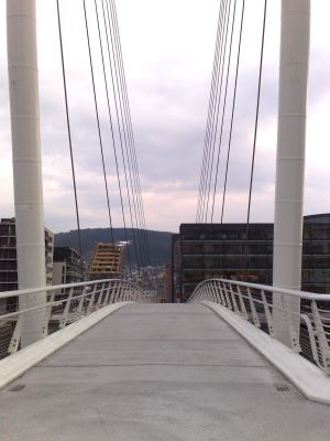 Image of Drammen's pedestrian bridge
