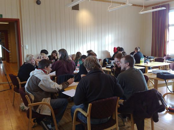 A game design workshop in progress.