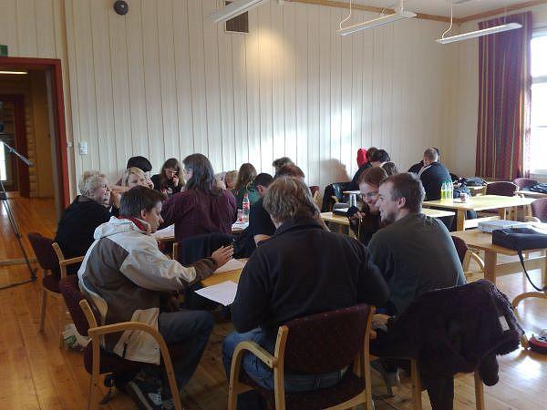 A game design workshop in progress.